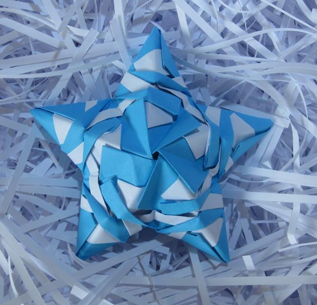 Origami Modulaire 3d Christmas Star Toile Noel A12